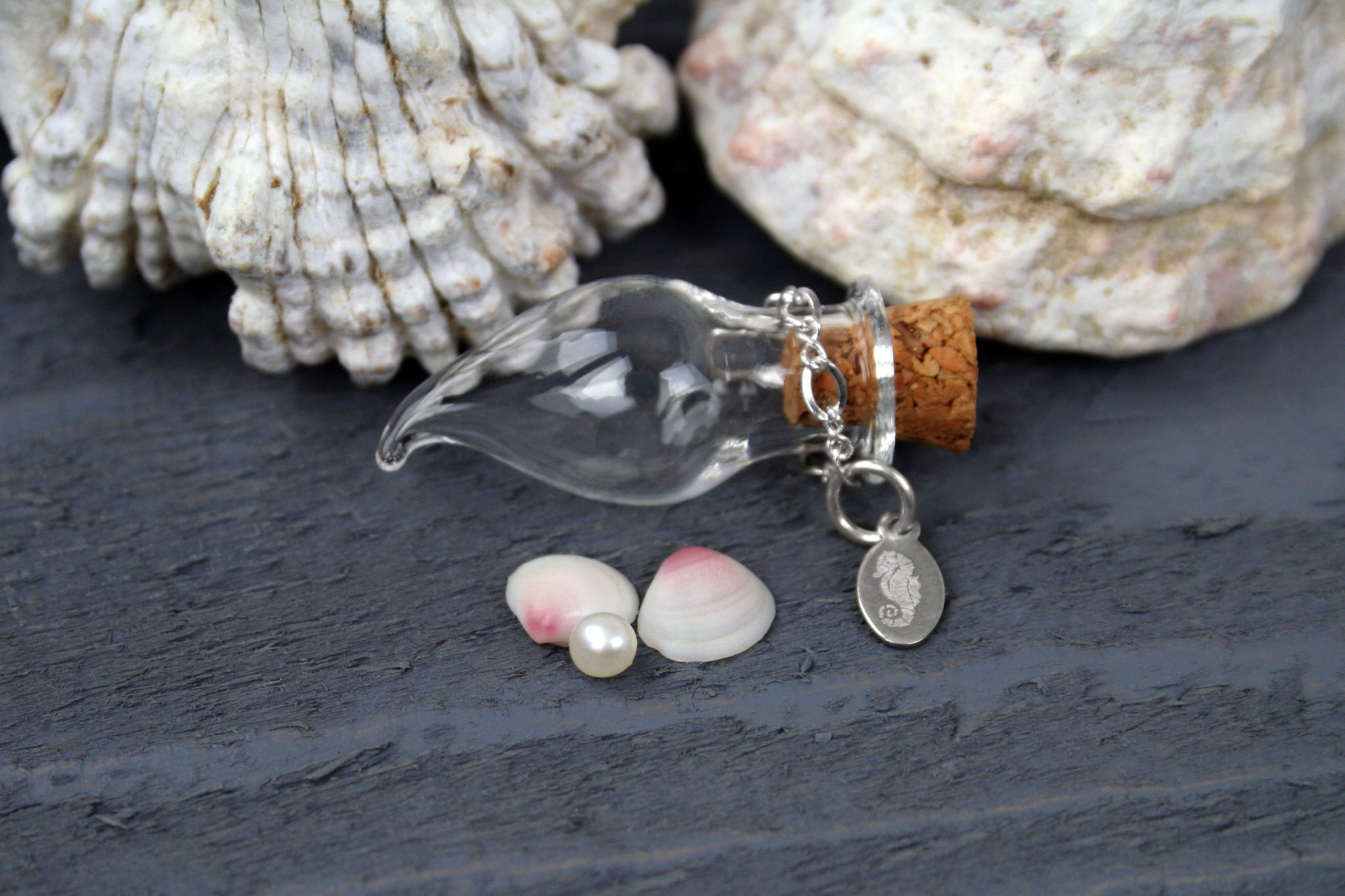Cultured Pearl With Bottle