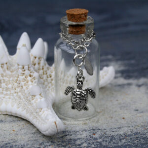 Small Sea Turtle Getaway Charm with Clasp attached